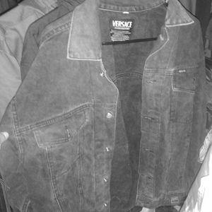 Vintage versace black Jean jacket